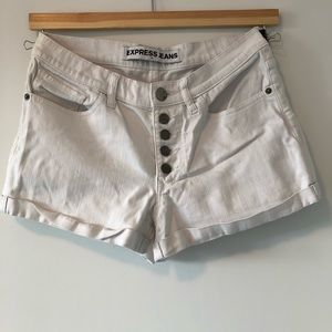 EXPRESS   White button up shorts